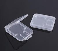 صغير شفاف بلاستيكي حماية صندوق تخزين حامل بطاقة الذاكرة القياسية لبطاقة الذاكرة SD TF MMC SIM