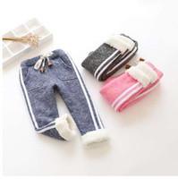 BibiCola дети зима теплая спортивные брюки мальчик девочка брюки новорожденный ребенок брюки плюс толстый бархат длинные брюки дети леггинсы