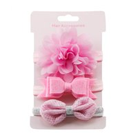 Girls accessories Baby Hairband Set 3pcs kids elastic floral...