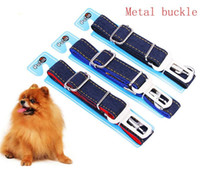 (Embalagem de Varejo) - Ajustável Pet Dog Harnesses Cinto de segurança Chumbo Restraint Strap Car Safety - (fivela de metal) - KKA1017