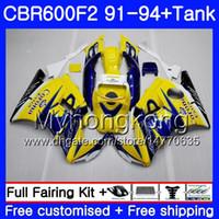 Cuerpo para HONDA CBR 600F2 FS CBR600RR CBR600 F2 91 92 93 94 1MY.36 CBR600FS CBR 600 F2 CBR600F2 caliente amarillo 1,991 1,992 1,993 1,994 carenado kit