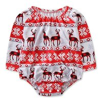 Infant Rompers Brand New Boys Girls Christmas Deer Snowflake...