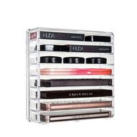 New Acrílico claro Makeup Organizer Makeup Box desktop Batom Titular Caixa de armazenamento Cosmetic Brushes ferramenta CASE