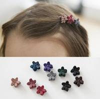 Клипы Детские Дети Маленький цветок волос Волосы Когти Прекрасные милые аксессуары для волос моды для студентов различных цветов Бесплатная доставка