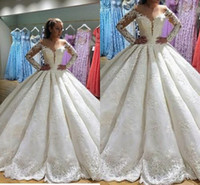 2018 New Fashion Noble Wedding Dresses Ball Gown Vintage Lon...