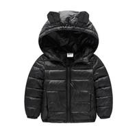 2017 frühling herbst jacke für mädchen jungen wintermantel solide warm mit niedlichen hoodies kinder daunenjacke für 2-7y kind