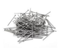 1000 adet / grup Donuk gümüş Kafa Iğneler Takı Boncuk DIY Aksesuarları Takı Yapımı Için 20 22 24 26 30 40 50mm