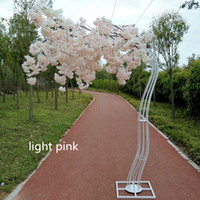 2.6M altezza bianca artificiale Cherry Blossom Tree strada piombo Wedding Runner Navata colonna commerciale centri commerciali Opened Door Decoration