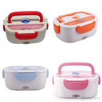 Riscaldamento elettrico Lunchbox Moda conservazione del calore Bento e cucchiaio Multi Color Lunch Box Carry Conveniente vendita calda 39fs dd
