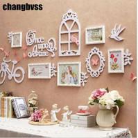 Conjunto de combinación de foto de estilo coreano 5Pcs / set Foto de archivo de foto de pared de marco colgante de pared de madera para boda