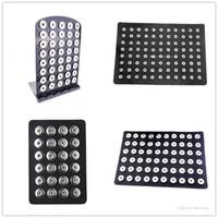 NOOSA Snap Button Jewelry 12mm 18mm Snap Button Display Black Leather / acrílico Snap Display para soporte de exhibición de joyería