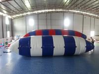 Darmowa Wysyłka 8 * 3 M Poduszki Poduszki Pływające Łóżka Nadmuchiwane Skoki Poduszki Wodna Blob Nadmuchiwany Trampoline Darmowa pompa