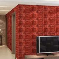1 Unid PVC Creativo Realista Pegatinas de Pared Ver Real Ladrillos de Rock Wall Wall Prepasted Adhesived Home Decor Hot