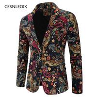Plus Größe XXL 3XL Mode Männer Slim Fit Casual Blazer Männer Druck Anzüge Mantel Mann Kleidung