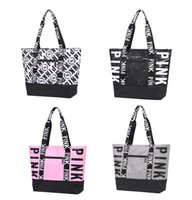 4colors Pink Letter Handbags Shoulder Bags Women girls Handb...