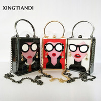 Brand Luxury Vintage Acrylic Evening Bag Women Funny Cute Ha...