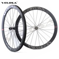 Super light! Velosa CX45 Road Disc Brake carbon wheelset, 45m...
