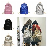 a0522fc12aa00 5 colors Holographic Backpack Women Large Capacity Travel PU Bling Backpack  Girls Fashion Shoulder Bags School Storage Bag GGA791 8pcs