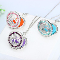 New Arrival Tree of life Aromatherapy necklace Crystal Rhine...