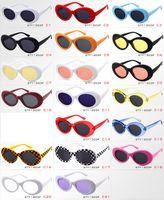 Clout Goggles NIRVANA Kurt Cobain Brillen Klassische Vintage Retro Oval-Sonnenbrille-Schatten Sonnenbrillen Punk Rock Unisex Frauen Männer