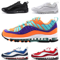 Nike Air Max 98 Running Shoes For Men Cone Gundam Triple Nero Bianco UK Racer Blu Rosso Run Casual 98s Sport Trainer Designer Sneaker Taglia 40-46