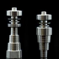 Univeral 6 em 1 Titânio Prego 10/14 / 19mm Feminino e masculino Domeless Titanium unha para fumar