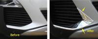 Più Fashion For Peugeot 3008 3008GT 2017 2018 ABS Testa Anteriore Fendinebbia Fendinebbia Palpebra Sopracciglio Copertura Trim 2 Pz