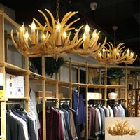 Wholesale antler chandelier buy cheap antler chandelier in bulk antler chandelier american living room restaurant chandeliers bar coffee shop dining room antler hanging lamp creative resin pendant lamps mozeypictures Image collections