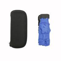 Mini Kapsül Cep Işık Şemsiye Rüzgar Geçirmez Katlanır Şemsiye Seyahat Kompakt Yağmur Şemsiye Erkekler Kadınlar Ücretsiz Kargo QW8450