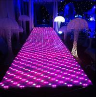 60 X 60 cm / pz Tappeto a specchio per palcoscenici a LED con decorazione classica per la decorazione di cerimonia nuziale in cristallo colorato di lusso