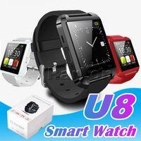 Beste Qualität Bluetooth Smartwatch U8 U-Uhr Smart Watch Armbanduhren für Samsung HTC Android Phone Smartphone In Gift Box