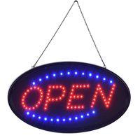 LED OPEN signe au néon de la lumière au néon intérieur en plastique Cadre de PVC Affichage pour la carte de publicité fenêtre hôtel bar