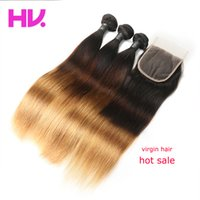 9a hair villa Pre- Colored Ombre malaysian Straight Hair With...