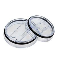 Neueste Lebensmittelqualität PP 20/30 Unzen Spritzwassergeschützt Klar Tassen Tassen Deckel Ersatz Fit Vakuumdeckel Für Marke Tasse