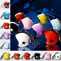 Motorcycle Helmets Keychain Keyring Cute Safety Helmet Car K...