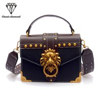 Hot Selling Shoulder Bag Female Luxury Lion Head Lock Handba...