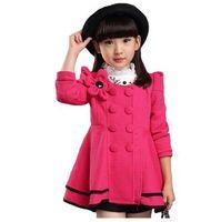 Высококачественное женское пальто Модная цветочная куртка Пальто для девочки Осень зима Верхняя одежда для девочек Одежда 4-12 лет
