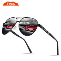 FRALU Pilot Mens Sonnenbrille 2018 polarisierte Gafas De Sol Mujer Punkte für Frauen Sun Polar-Treiber-Glas-Marken Brillen