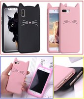 For iphone 5 6 Phone Cases Shell 3D Bearded Cat Silicone Sof...