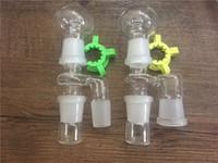 Glas Reclaim Ash Catcher 14mm 18mm Männlich Weiblich Joint Glas Reclaimer Adapter Mit Keck Clip Für Glas Bong Öl Rigs
