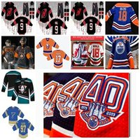 Personnalité masculine 2019 Troisième Islanders de New York St.Louis Blues Mighty Ducks Philadelphia Flyers Maillot de hockey uniforme Edmonton Oilers