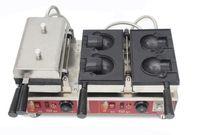 0pen Ağız Ayı şekli waffle makinesi dondurma waffle koni makinesi taiyaki makinesi ticari elektrikli waffle makinesi sevimli LLFA