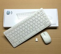 mini Keyboard and mouse set, Ultra Slim Thin Design 2. 4GHz Wi...