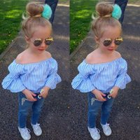 Girls Clothing Sets Baby Kids Clothing Baby Girls Stripe T- s...