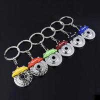 6 색 새로운 자동차 브레이크 스핀 디스크 브레이크 캘리퍼스 모양 패드 키 체인 키 체인 키 링 자동차 자동 패션 액세서리