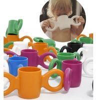 Bicchiere da acqua per bambini ininterrotto grande tazza per l'acqua stile orecchio 300ml bicchieri di succo di latte per bambini con due orecchie a mano 7 colori disponibili Regali di Natale