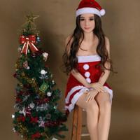 최고 품질 165cm 크리스마스 뷰티 섹스 인형 남자용 작은 가슴 애니메이션 고무 여자 사랑 인형 구강 엉덩이 질