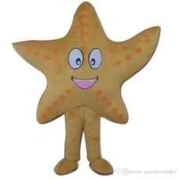 2018 Sıcak satış EVA Malzeme 5 tarzı denizyıldızı Beş Köşeli yıldız Maskot Kostümleri Karikatür Giyim Doğum Günü partisi Masquerade