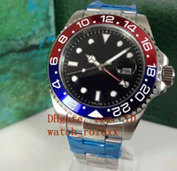 HOT Luxury Mens GMT 18kt White Gold RED Blue Automatic Mecha...