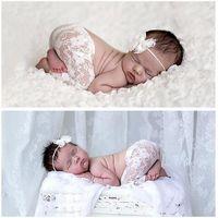 Pantalones de encaje de bebé recién nacidos Pantalones de encaje Bebán de bowknot Conjunto Disfraz de bebé Accesorios para el cabello Baby Boys Girls Shoot Shoot Precs 8 colores